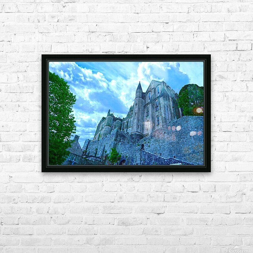 A Day at Mont Saint Michel 9 of 12 HD Sublimation Metal print with Decorating Float Frame (BOX)