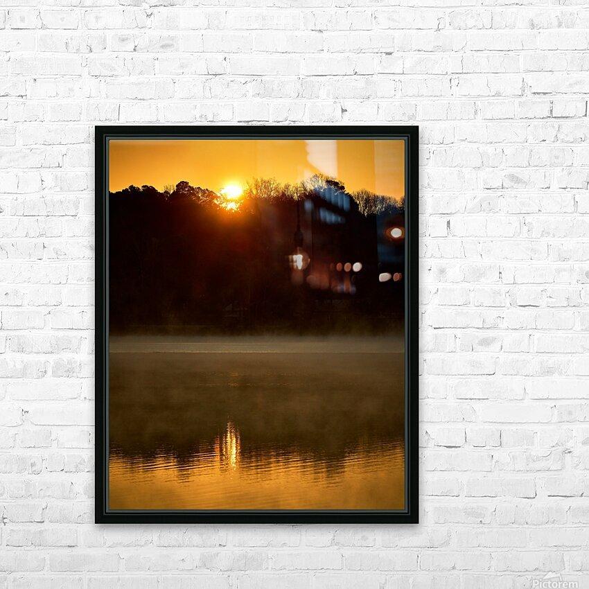 Sunrise at Langley Pond Park   Aiken SC 7R301617 12 19 20 HD Sublimation Metal print with Decorating Float Frame (BOX)