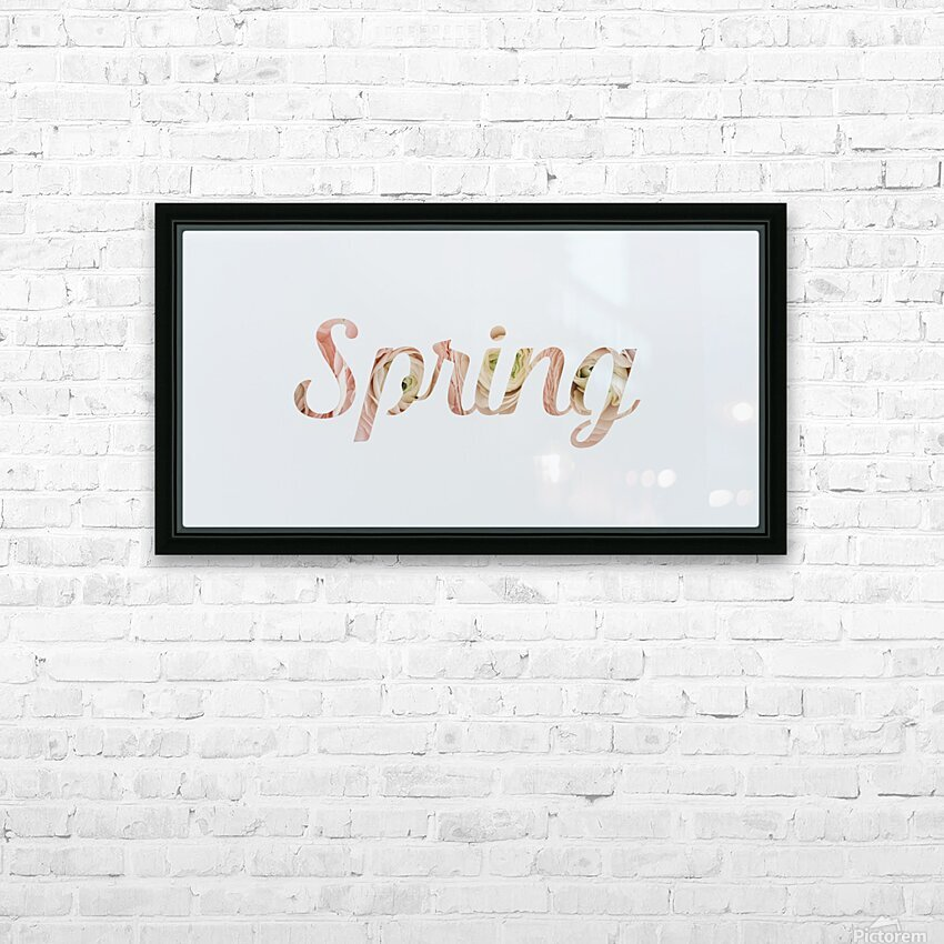 Daltana Spring Drill HD Sublimation Metal print with Decorating Float Frame (BOX)