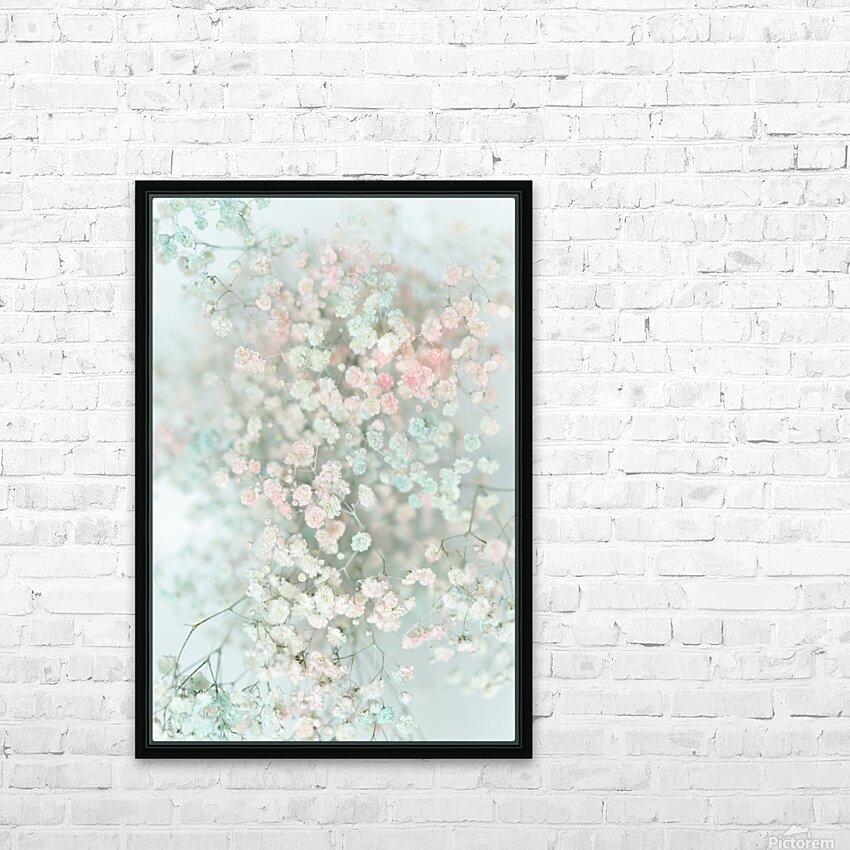 Daltana Pastel Floral Bina HD Sublimation Metal print with Decorating Float Frame (BOX)
