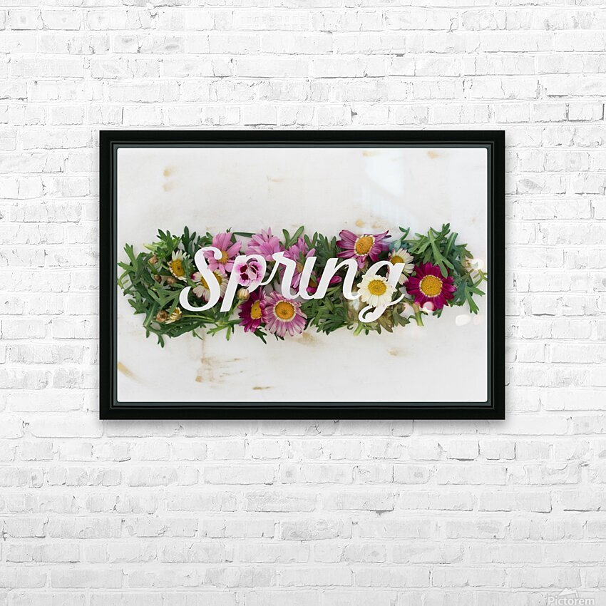 Daltana Spring Irill HD Sublimation Metal print with Decorating Float Frame (BOX)