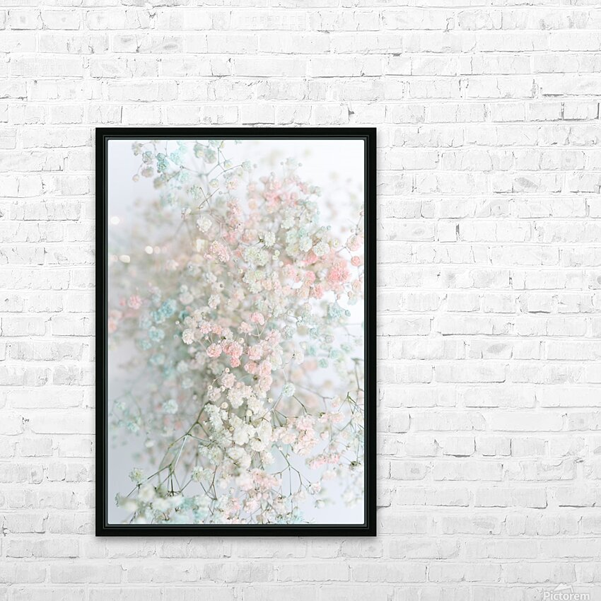 Daltana Pastel Floral Aera HD Sublimation Metal print with Decorating Float Frame (BOX)