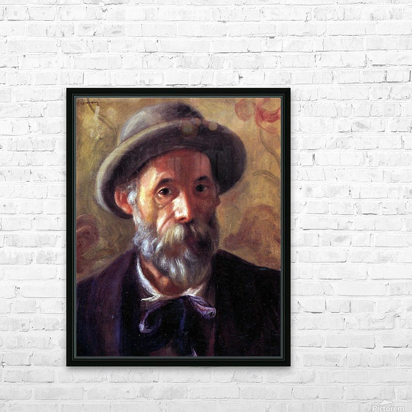 Self Portrait 1 by Renoir HD Sublimation Metal print with Decorating Float Frame (BOX)