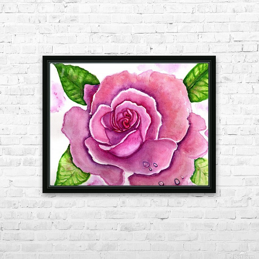 Magnificent Rose HD Sublimation Metal print with Decorating Float Frame (BOX)