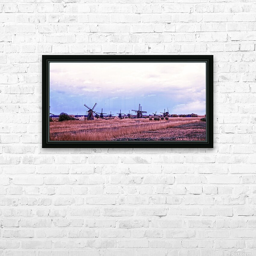 Wonderful Windmills HD Sublimation Metal print with Decorating Float Frame (BOX)