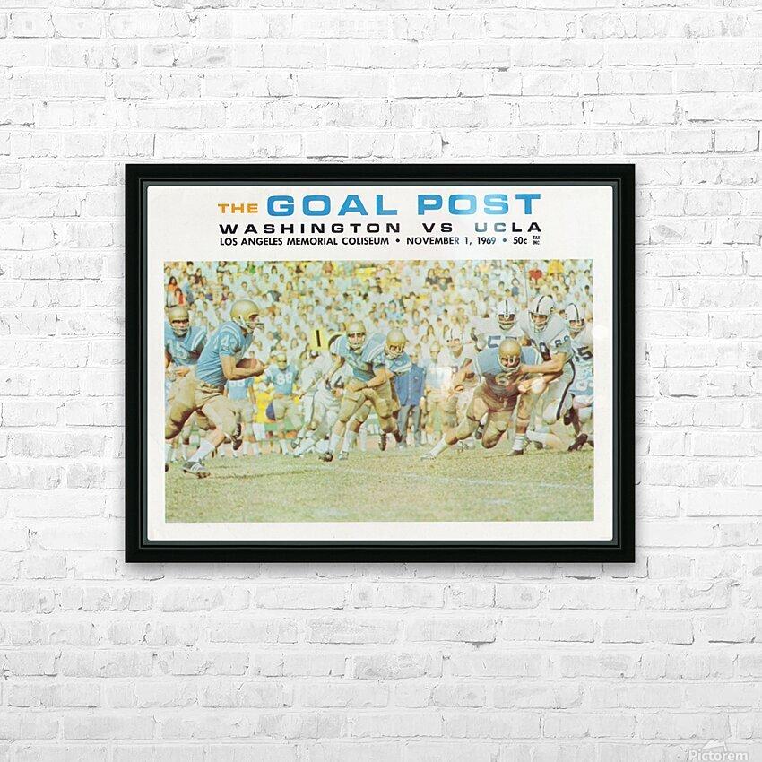 1969 UCLA vs. Washington Football Program Cover Art HD Sublimation Metal print with Decorating Float Frame (BOX)