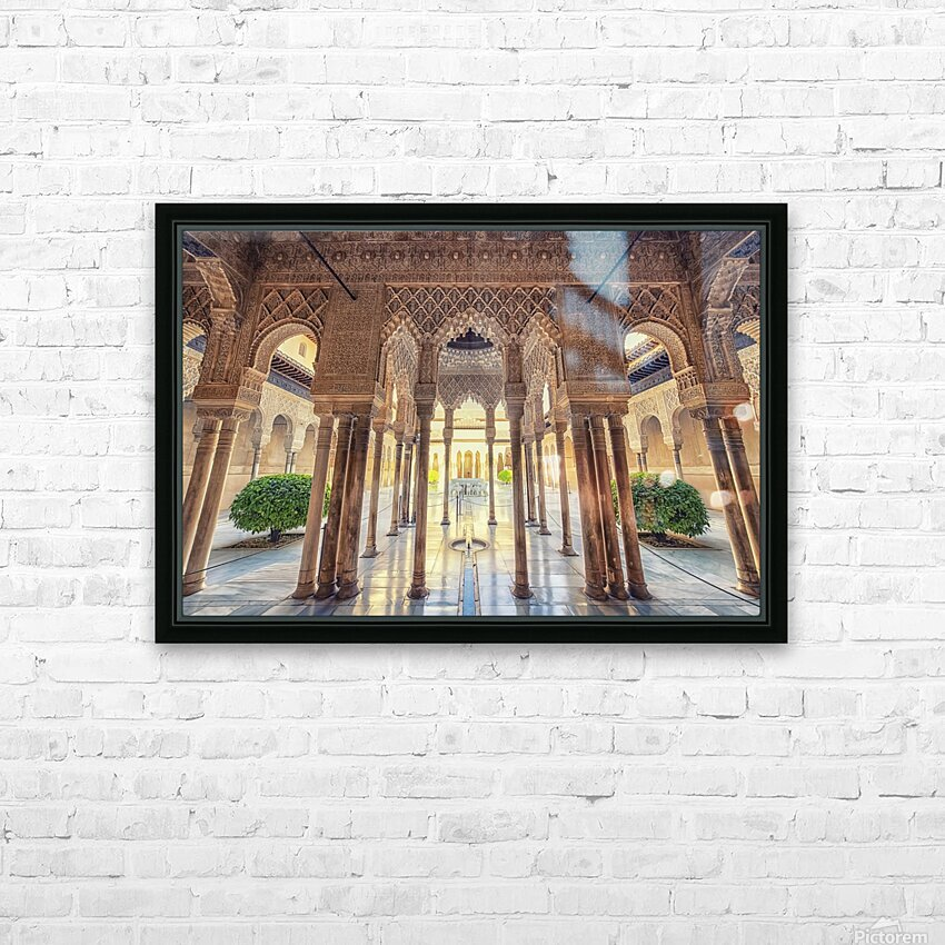 Alhambra HD Sublimation Metal print with Decorating Float Frame (BOX)