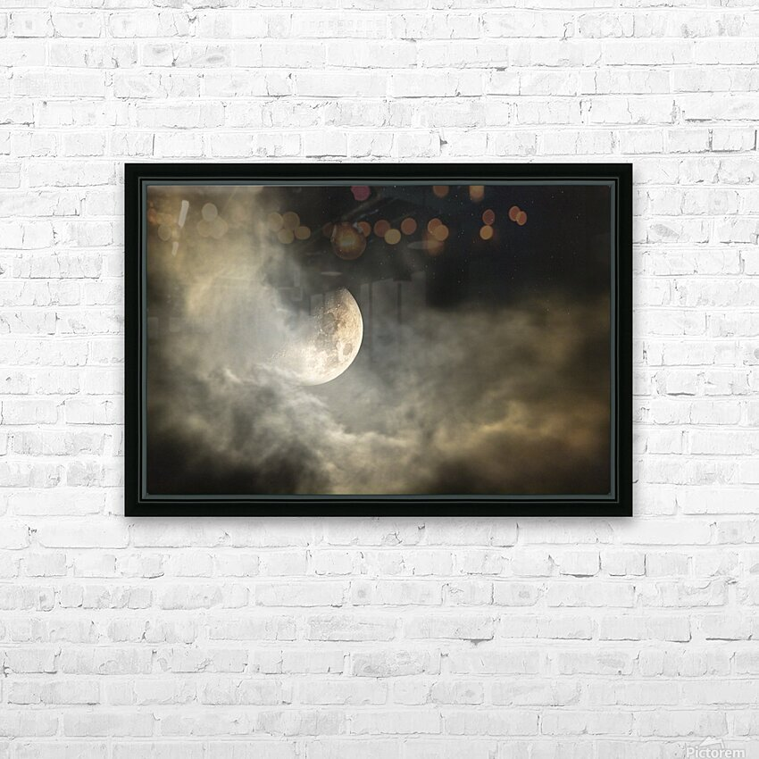 Goodnight Moon  HD Sublimation Metal print with Decorating Float Frame (BOX)