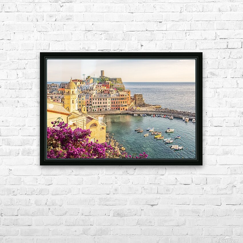 Vernazza HD Sublimation Metal print with Decorating Float Frame (BOX)