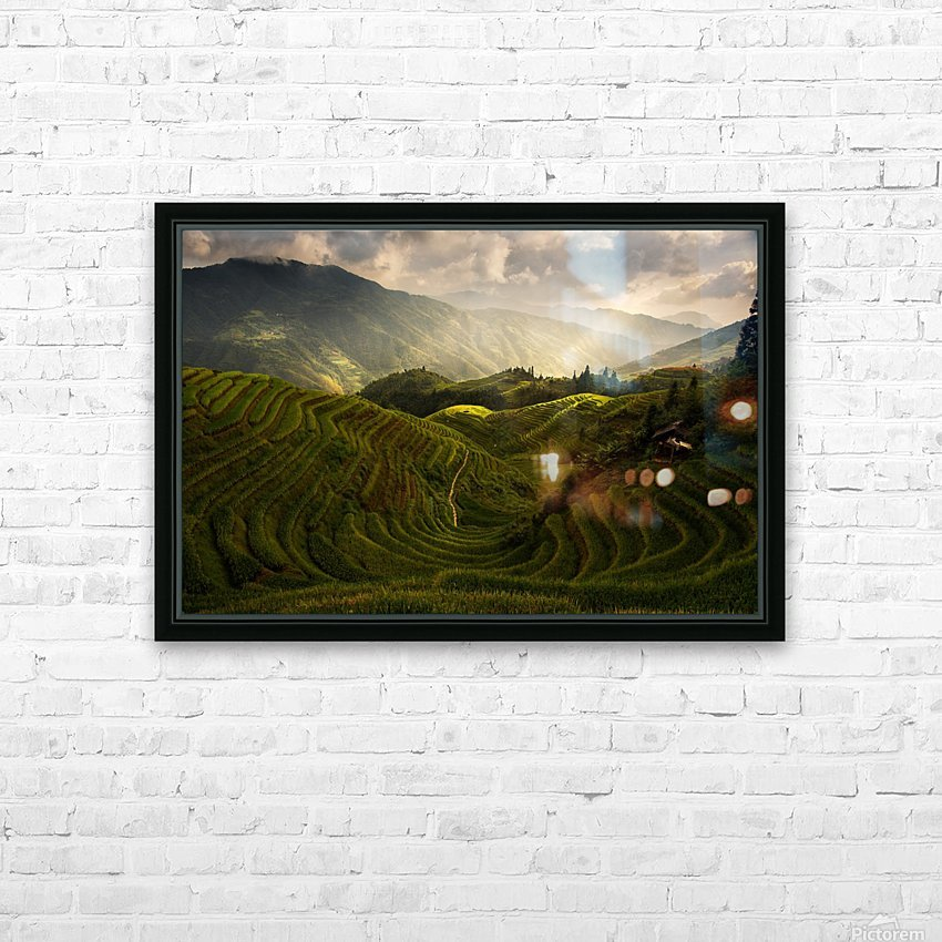 A Tuscan Feel in China HD Sublimation Metal print with Decorating Float Frame (BOX)