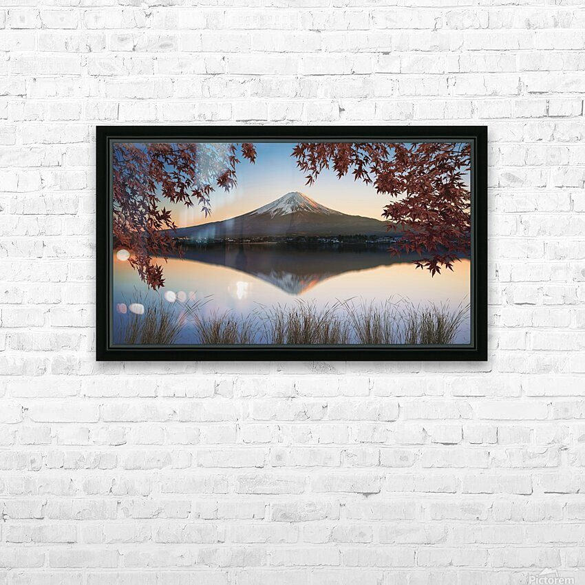 Mount Fuji HD Sublimation Metal print with Decorating Float Frame (BOX)
