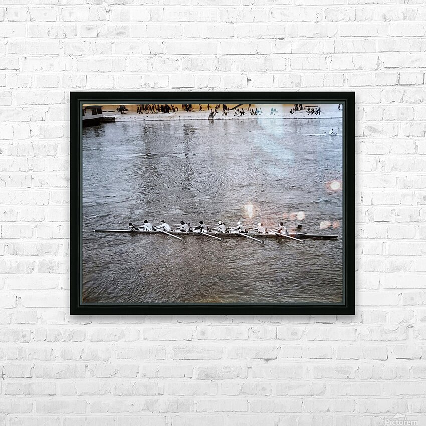 Paris Rowing 1975   2 HD Sublimation Metal print with Decorating Float Frame (BOX)
