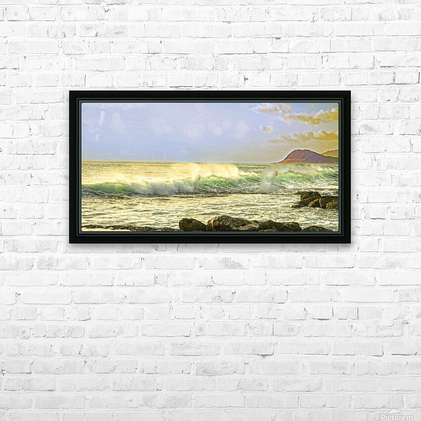 Spring Surge After the Storm Panorama HD Sublimation Metal print with Decorating Float Frame (BOX)