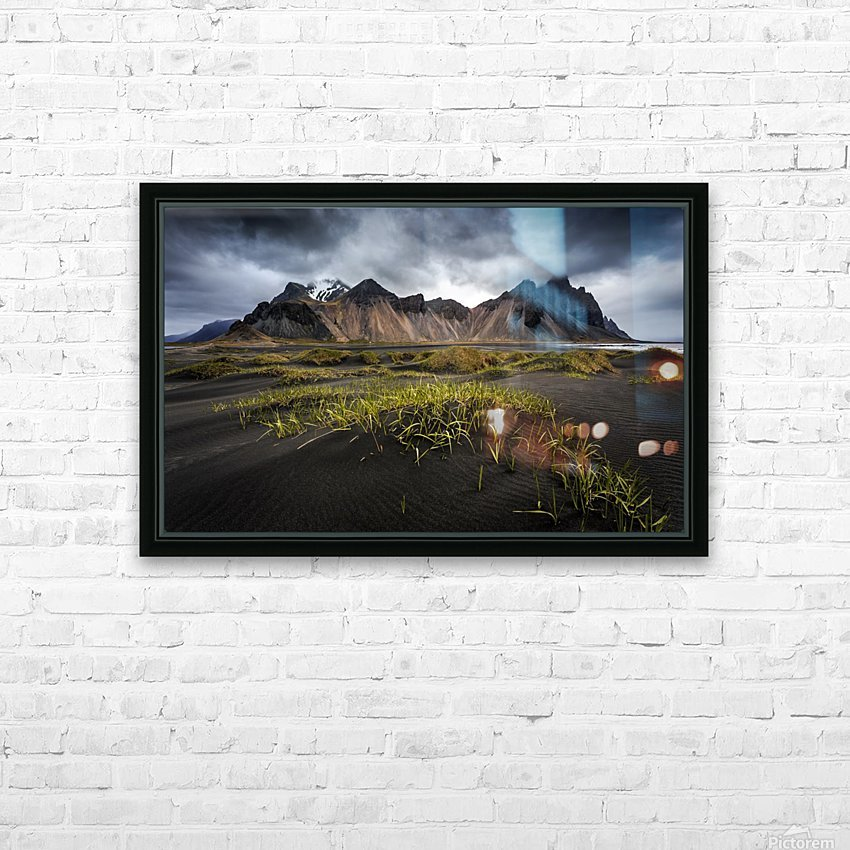 Stokksnes HD Sublimation Metal print with Decorating Float Frame (BOX)