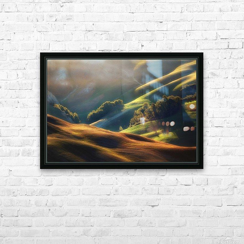 Tuscany Sunrise HD Sublimation Metal print with Decorating Float Frame (BOX)