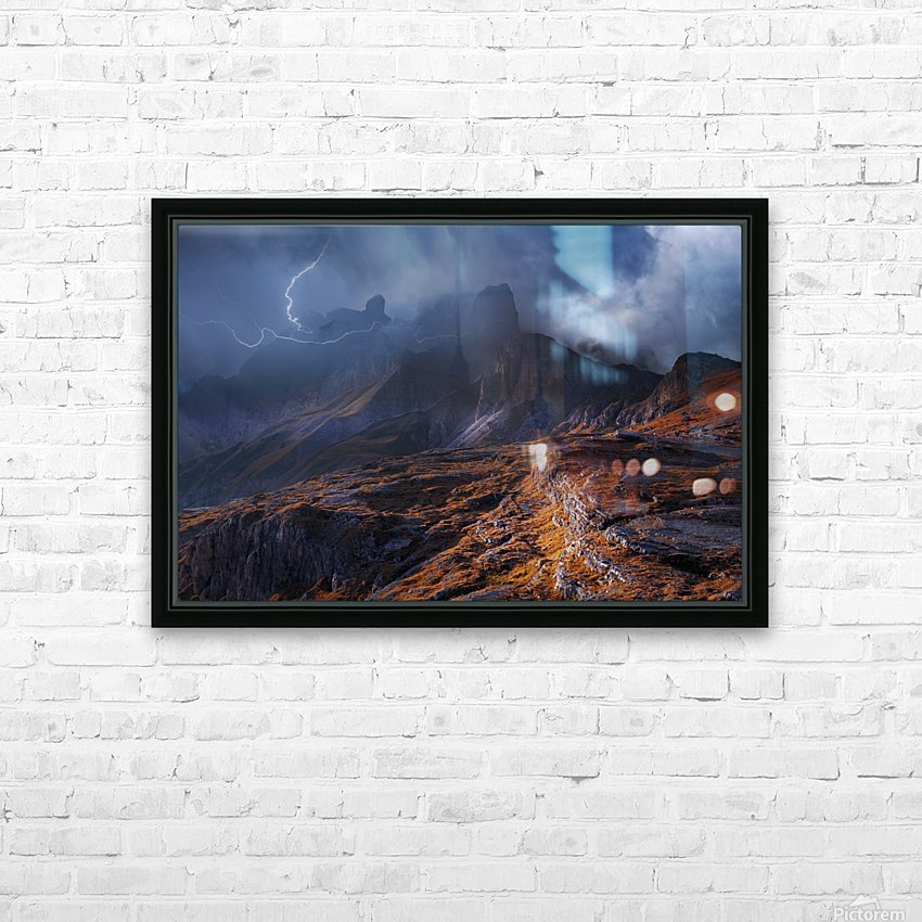 Bergwetter HD Sublimation Metal print with Decorating Float Frame (BOX)