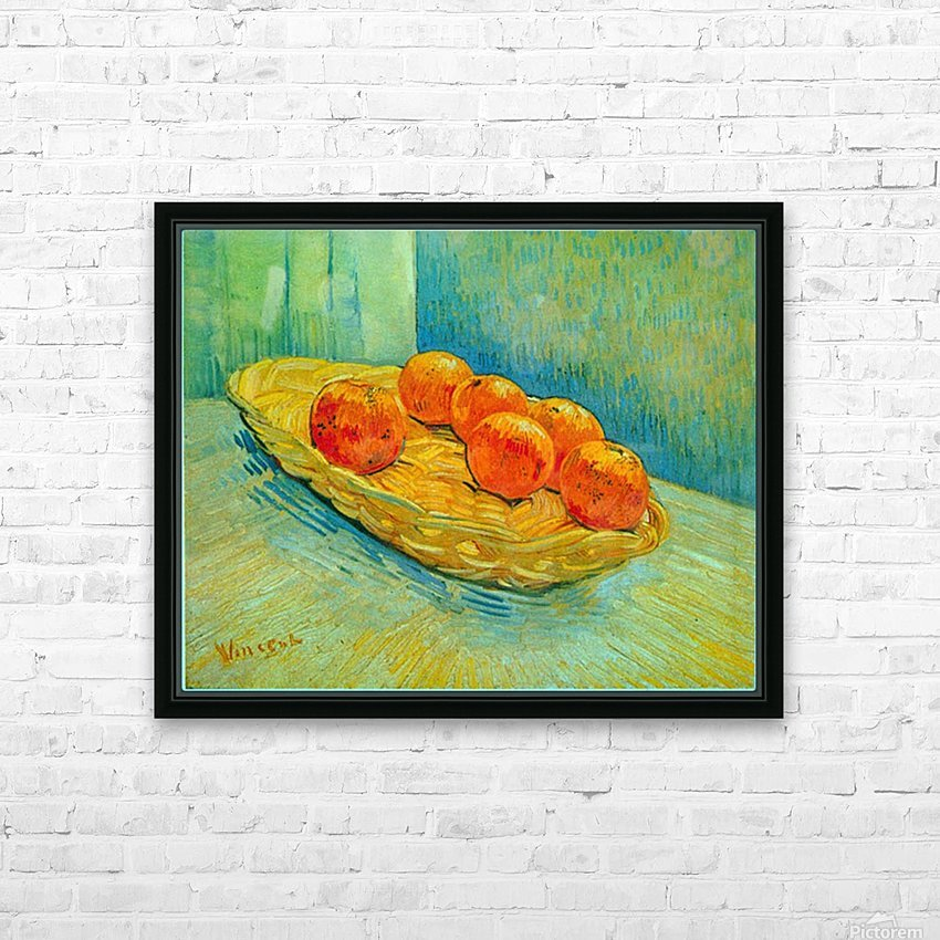 Six Oranges by Van Gogh HD Sublimation Metal print with Decorating Float Frame (BOX)