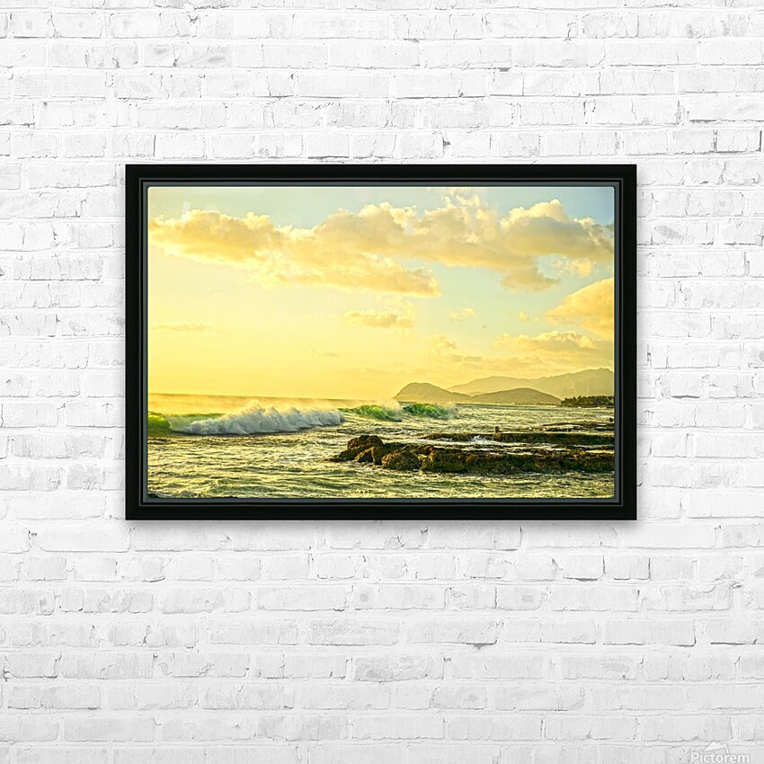 Perfect Day - Sunset Hawaiian Islands HD Sublimation Metal print with Decorating Float Frame (BOX)