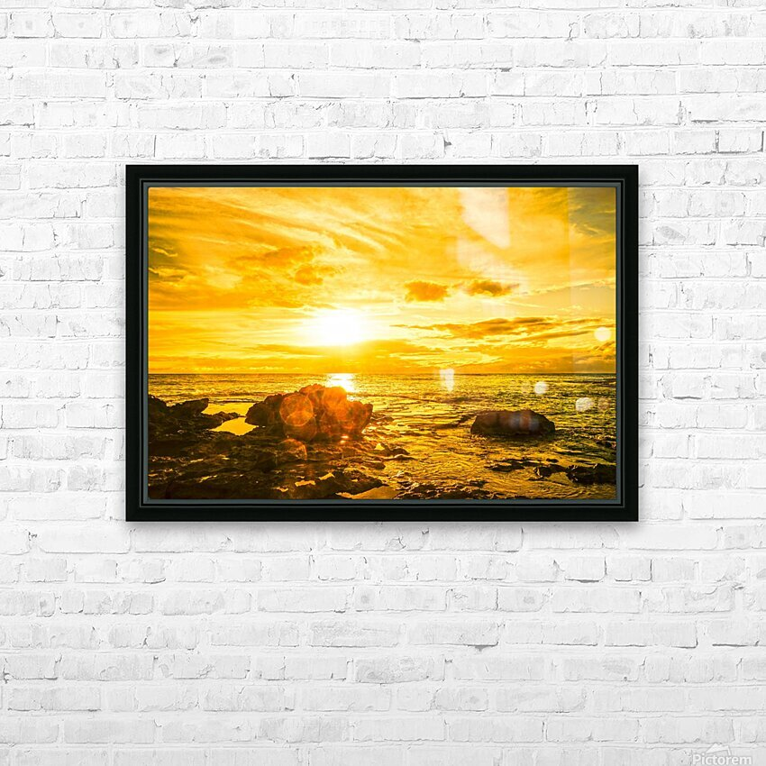 Majestic Sunset - Hawaiian Islands HD Sublimation Metal print with Decorating Float Frame (BOX)