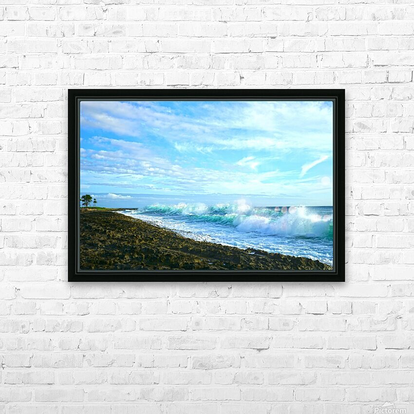 Blue Day - Hawaiian Islands HD Sublimation Metal print with Decorating Float Frame (BOX)