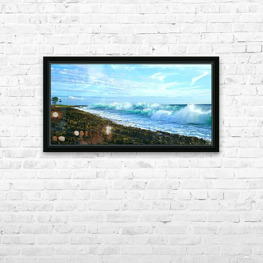 Blue Day Panorama HD Sublimation Metal print with Decorating Float Frame (BOX)