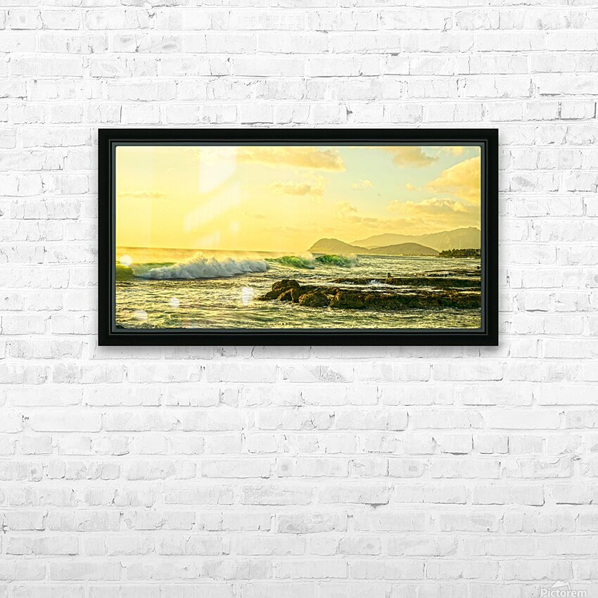 Perfect Day Panorama - Sunset Hawaiian Islands HD Sublimation Metal print with Decorating Float Frame (BOX)