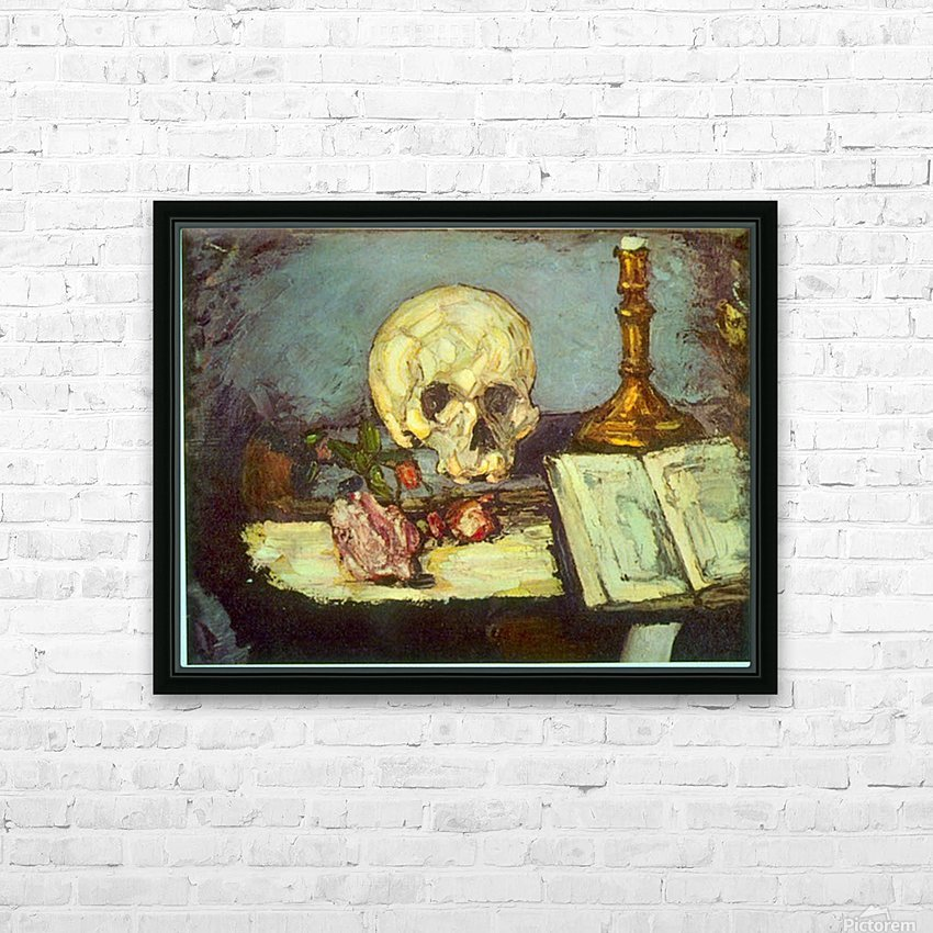 Skull by Degas HD Sublimation Metal print with Decorating Float Frame (BOX)