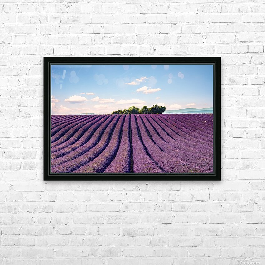 The Valensole plateau HD Sublimation Metal print with Decorating Float Frame (BOX)