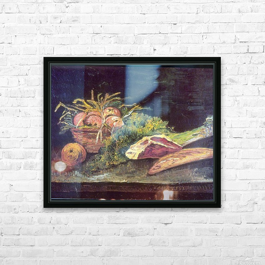 Snow by Van Gogh HD Sublimation Metal print with Decorating Float Frame (BOX)