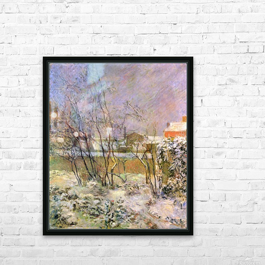 Snow in Rue Carcel by Gauguin HD Sublimation Metal print with Decorating Float Frame (BOX)