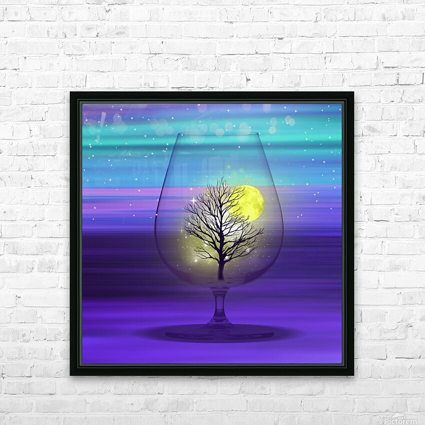 Landscape in a glass. HD Sublimation Metal print with Decorating Float Frame (BOX)