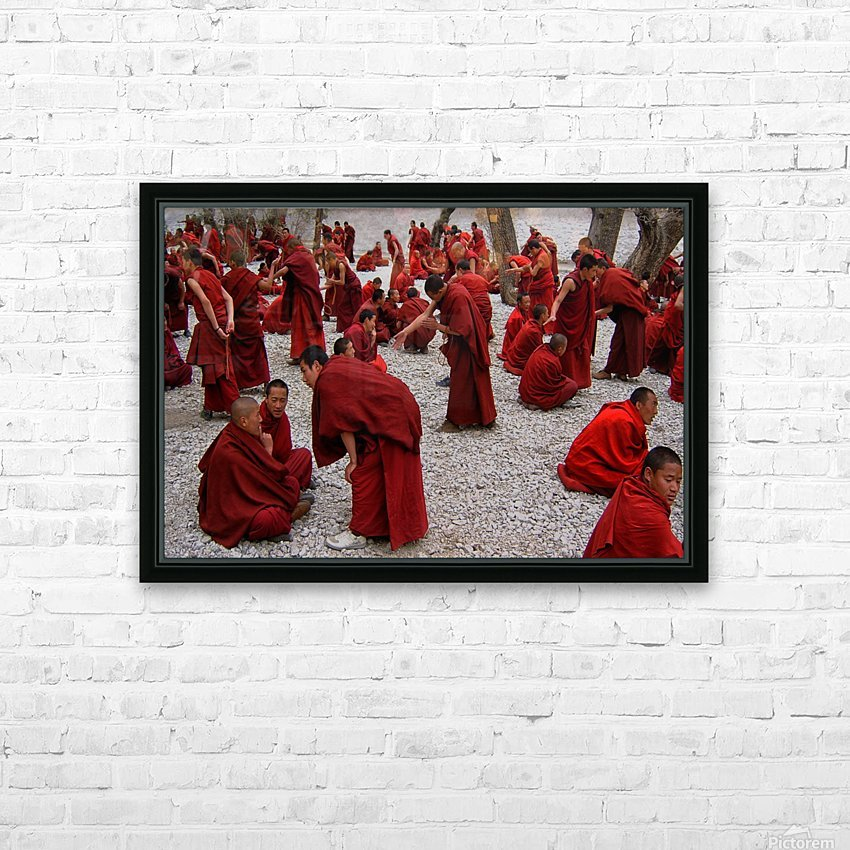 Monks debating HD Sublimation Metal print with Decorating Float Frame (BOX)