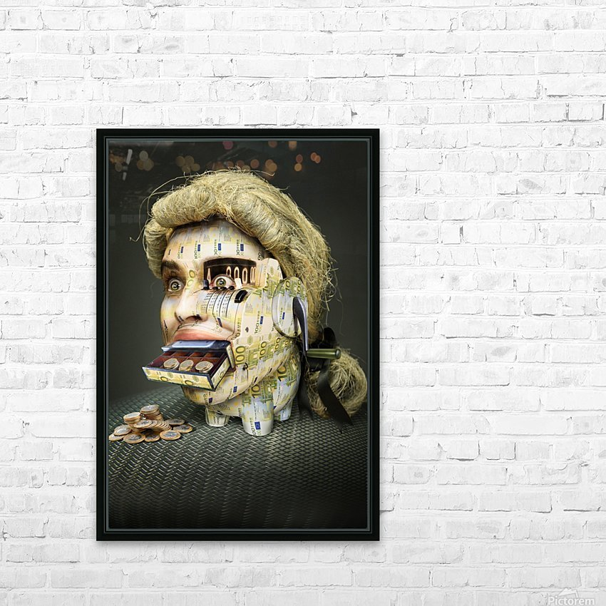 The Miser Molier by DDiArte   HD Sublimation Metal print with Decorating Float Frame (BOX)