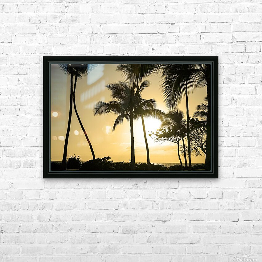 Through the Palms HD Sublimation Metal print with Decorating Float Frame (BOX)