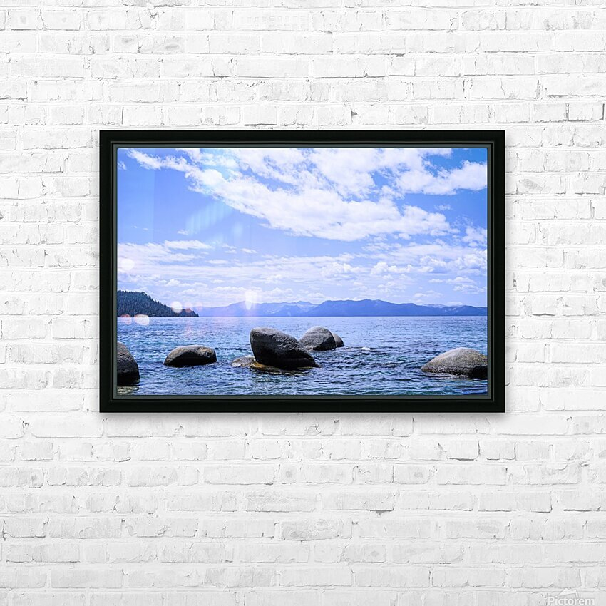 Perfect Day at the Lake - California HD Sublimation Metal print with Decorating Float Frame (BOX)