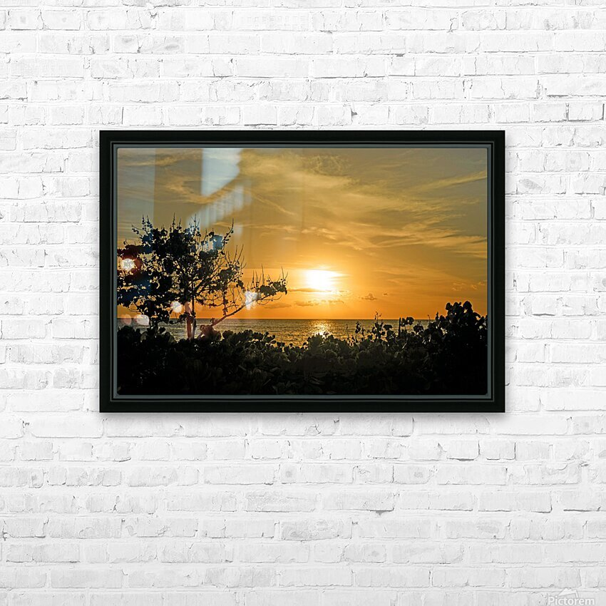 Delicate - Sunset Hawaiian Islands HD Sublimation Metal print with Decorating Float Frame (BOX)