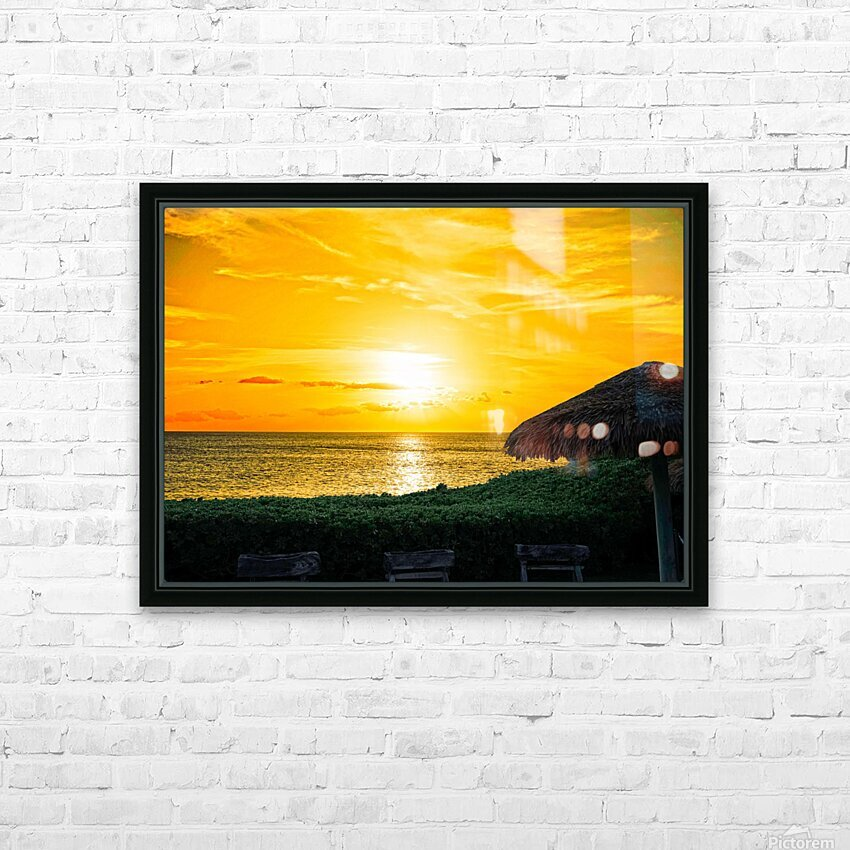Away HD Sublimation Metal print with Decorating Float Frame (BOX)