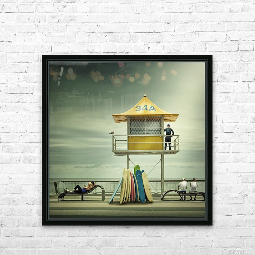 The life guard HD Sublimation Metal print with Decorating Float Frame (BOX)