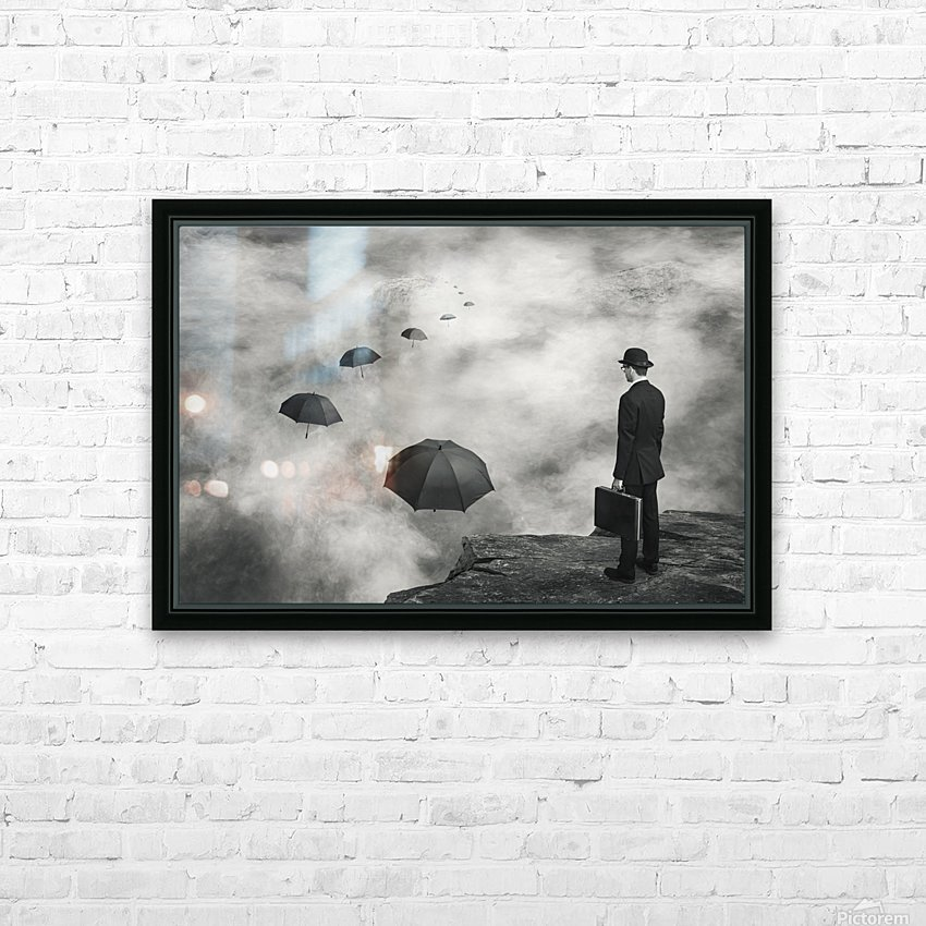 The Road Less Traveled HD Sublimation Metal print with Decorating Float Frame (BOX)