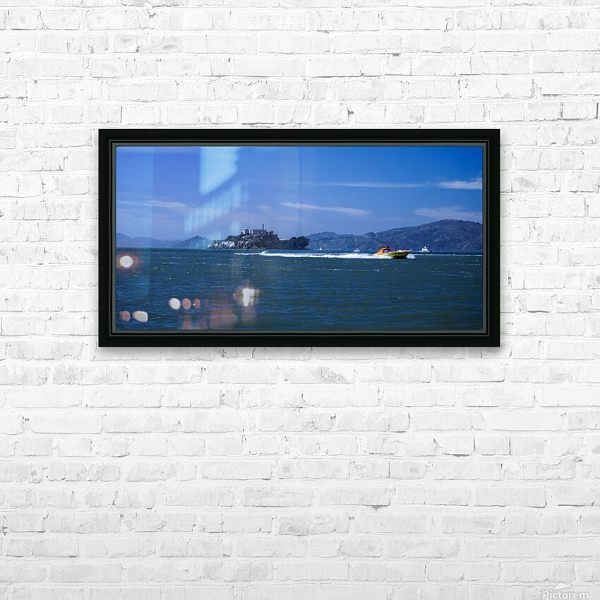 The Rock Alcatraz San Francisco HD Sublimation Metal print with Decorating Float Frame (BOX)