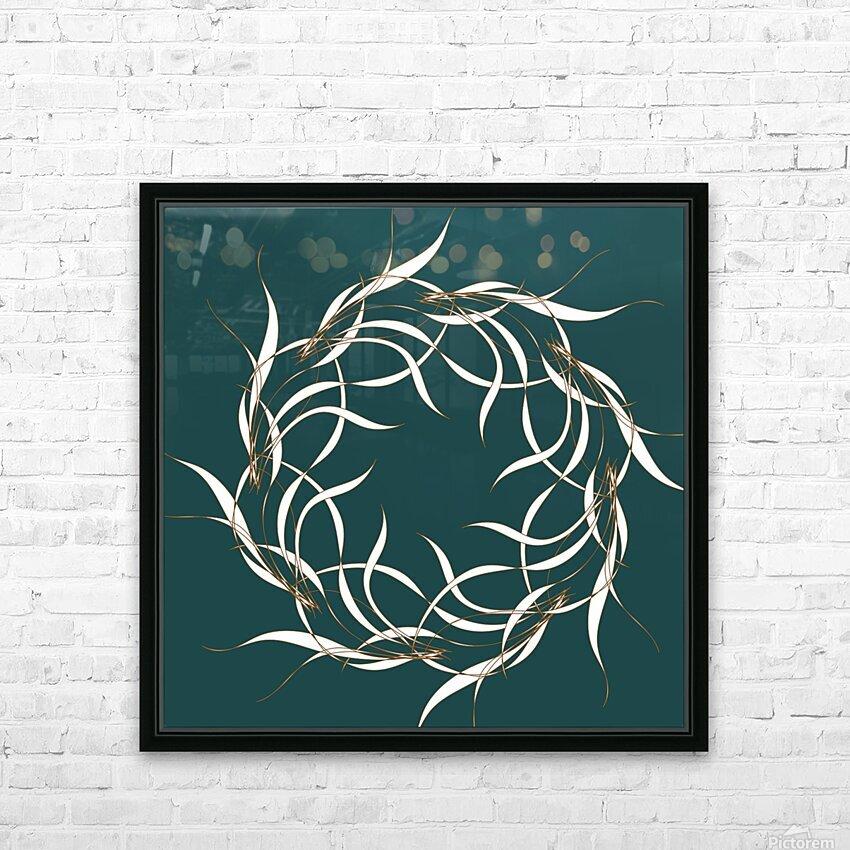 wintermandala HD Sublimation Metal print with Decorating Float Frame (BOX)