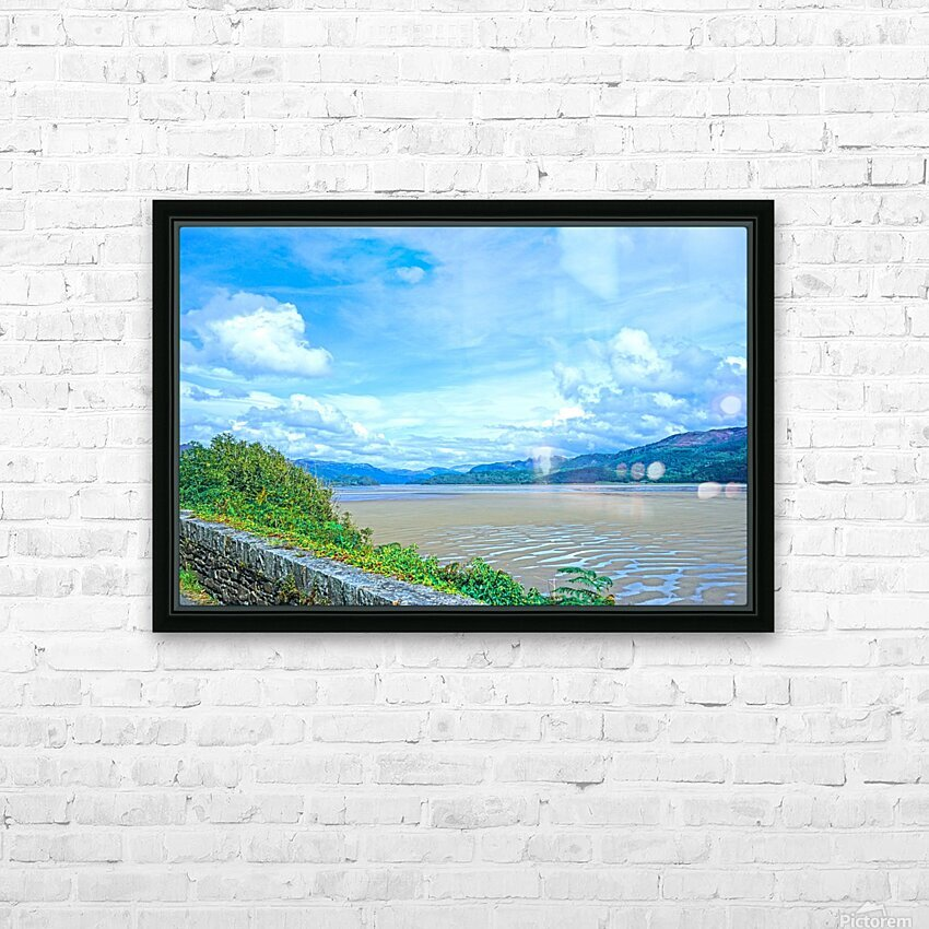 View to Forever Coastal England HD Sublimation Metal print with Decorating Float Frame (BOX)