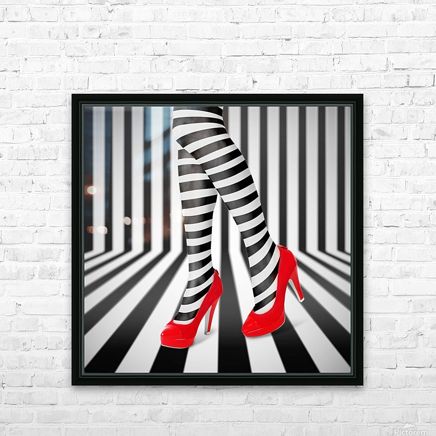 Red Shoes HD Sublimation Metal print with Decorating Float Frame (BOX)