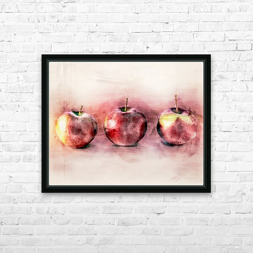 Three Apples HD Sublimation Metal print with Decorating Float Frame (BOX)