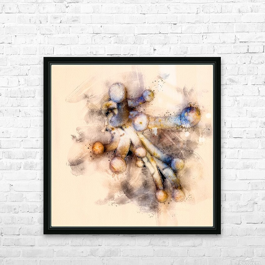 Tasty Mushroom Abstract HD Sublimation Metal print with Decorating Float Frame (BOX)