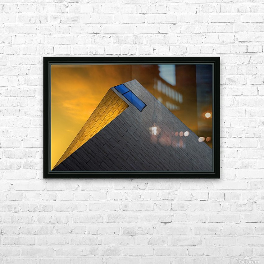 Golden Glow by Gilbert Claes  HD Sublimation Metal print with Decorating Float Frame (BOX)