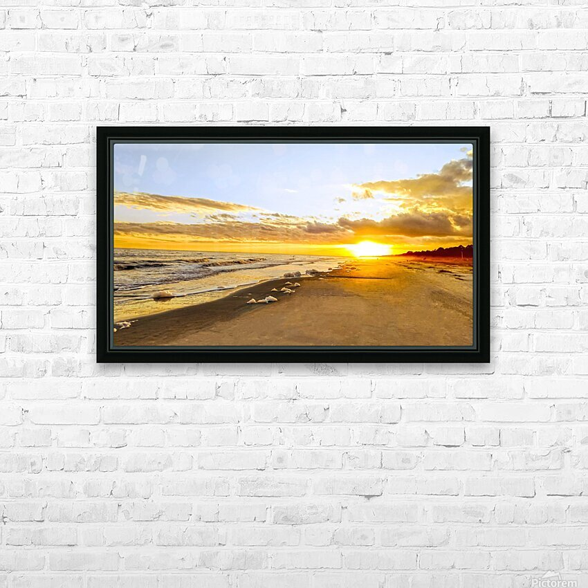 The Summer Sun Sets in the Carolinas HD Sublimation Metal print with Decorating Float Frame (BOX)