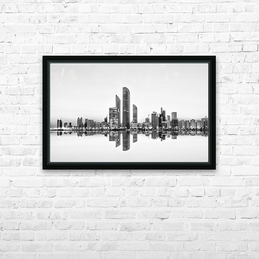 Abu Dhabi Urban Reflection HD Sublimation Metal print with Decorating Float Frame (BOX)