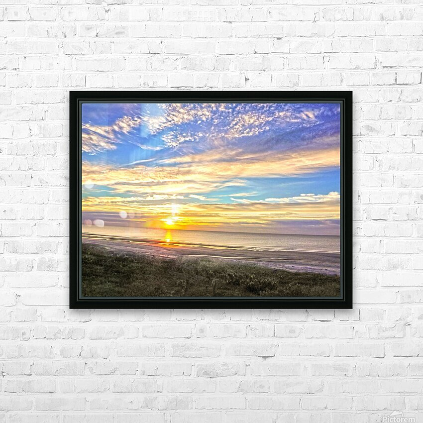 Carolina Sunrise HD Sublimation Metal print with Decorating Float Frame (BOX)