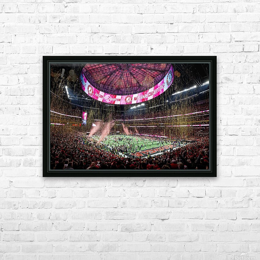 Alabama National Championship 1-8-18 HD Sublimation Metal print with Decorating Float Frame (BOX)